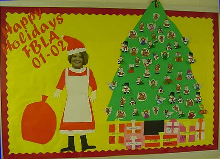 see picture soar to new heights with fbla decorate bulletin board - Christmas Bulletin Board Decorations